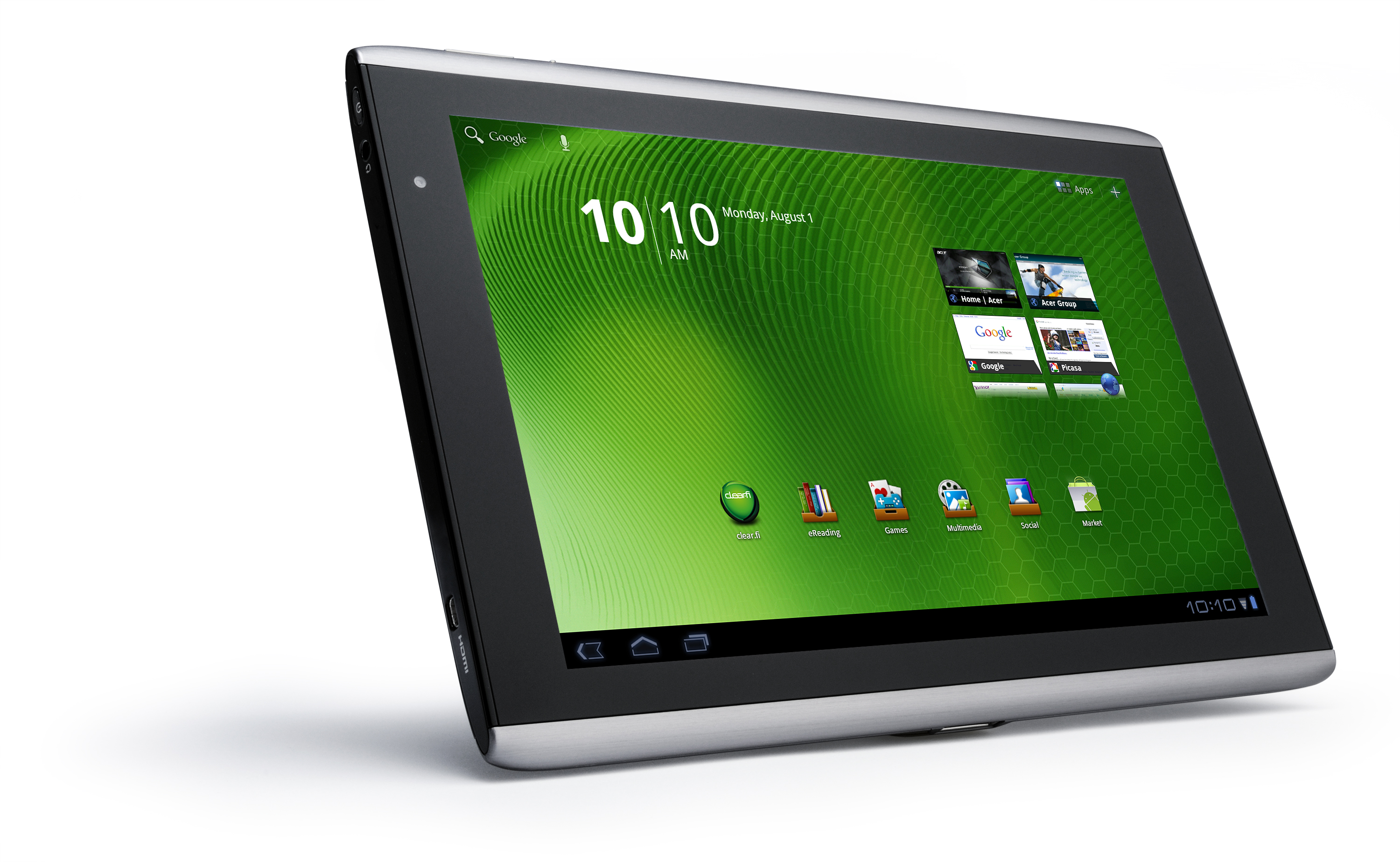 acer iconia 10 inch tablet tegra 2 1ghz 16gb a500 10s16w. Black Bedroom Furniture Sets. Home Design Ideas